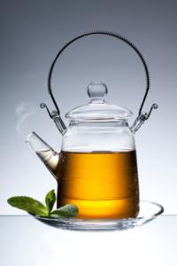 black tea in teapot